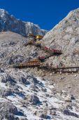 View form top of Jade Dragon Snow Mountain — Stock Photo