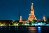 Wat Arun Temple River front in bangkok City Thailand — Stock Photo