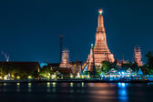 Wat Arun Temple River front in bangkok City Thailand — Stock Photo