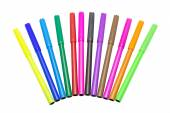 Colorful markers pens Multicolored Felt Pens draw line — Stock Photo