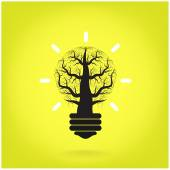 Green and initiative concept. Tree of green idea shoot grow in a — Stock Vector