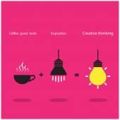 The good idea accomplish inspiration and coffee good taste can b — Stock Vector