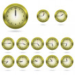 Set of colorful clock icon — Vector de stock  #54081089