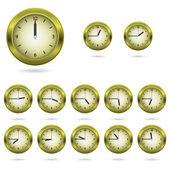 多彩的时钟图标集 — 图库矢量图片