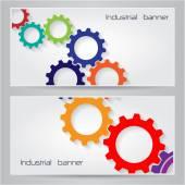 Понятие фона баннера символа механизмов. — Cтоковый вектор