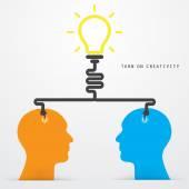 Brain opening concept.Creative brain abstract vector logo design — Stock Vector