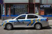Czech Police car — Fotografia Stock