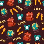 School seamless pattern — Stock Vector
