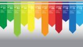 Beautiful info graphic scheme — Stock Vector