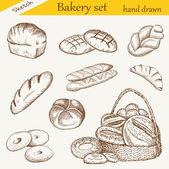 パン屋さんセット — ストックベクタ
