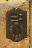 Old Bronze Door Intercom Buzzer — Stockfoto
