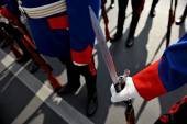 Bayonet detail during military parade — Stock Photo