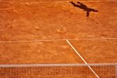 Tennis serve shadow — Stock Photo
