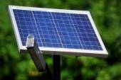 Photovoltaic public lighting — Stock Photo