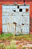 Industrial detail with old warehouse gate — Foto de Stock
