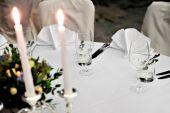 элегантный обеденный стол — Стоковое фото