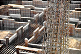 Industrial iron reinforcement detail — Stock Photo