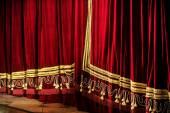 Opera closed curtains — Stock Photo