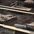 Iron rack for concrete pouring on construction site — Stock Photo #57487753
