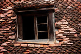 Mansard old roof tile — Stock Photo