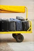 Airport luggage transportation — Stock Photo