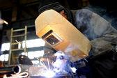 Welder at work — Foto de Stock