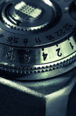 Vintage configuration mechanism for the old camera — Stock Photo