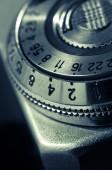Vintage configuration mechanism for the old camera — Foto de Stock