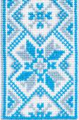 Ukrainian embroidery a fragment of male shirts — Stock Photo