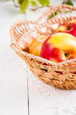 Fresh harvest of apples. Nature fruit concept — Fotografia Stock
