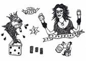 Gambling set — Stock Vector