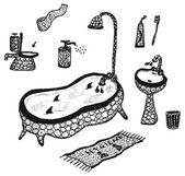Hygiene and bathroom elements set — Stock Vector