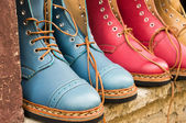 Colored boots — Стоковое фото