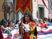 Sardinian typical costumes — Stock Photo