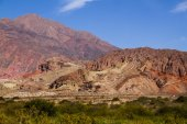 Mountains multiple colors in the Argentina Puna — Stock Photo