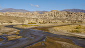 Valley formed by erosion of the river in Salta — Stock Photo