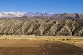 Farmland in the Andean valleys — Stock Photo