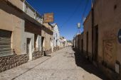 Street in a small town in northwestern Argentina. — Stock Photo