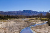 River crossing Mountain valley — Stock Photo