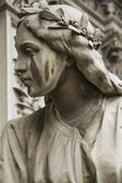Sculpture of a woman's face — Fotografia Stock