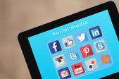 Medios modernos de comunicación social — Foto de Stock