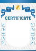 Certifikat — Stockvektor