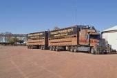 Australia, Road Train — Stock Photo