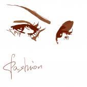 Vector illustration of a female eye — Stock Vector