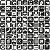 Icons message notebook calendar — Stock Vector