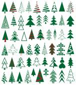 Icons conifer — Stock Vector