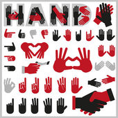 Hands icons — Stock Vector