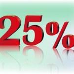 Twenty five percent — Stock Vector #69175635