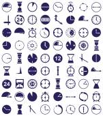 Clock icon on white — Stock Vector
