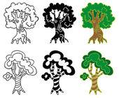 Árvores de folha caduca — Vetor de Stock